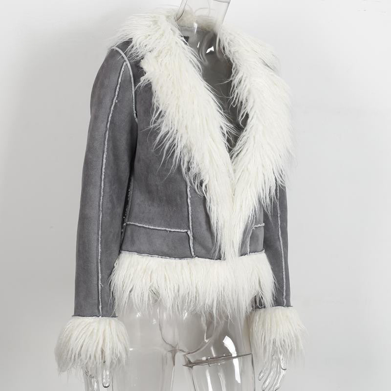 Jacket – Fur Jacket With Turn-Down Collar | Zorket