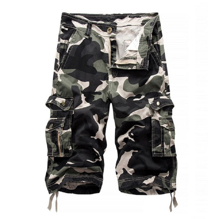 Men's Summer Casual Loose Cotton Cargo Shorts