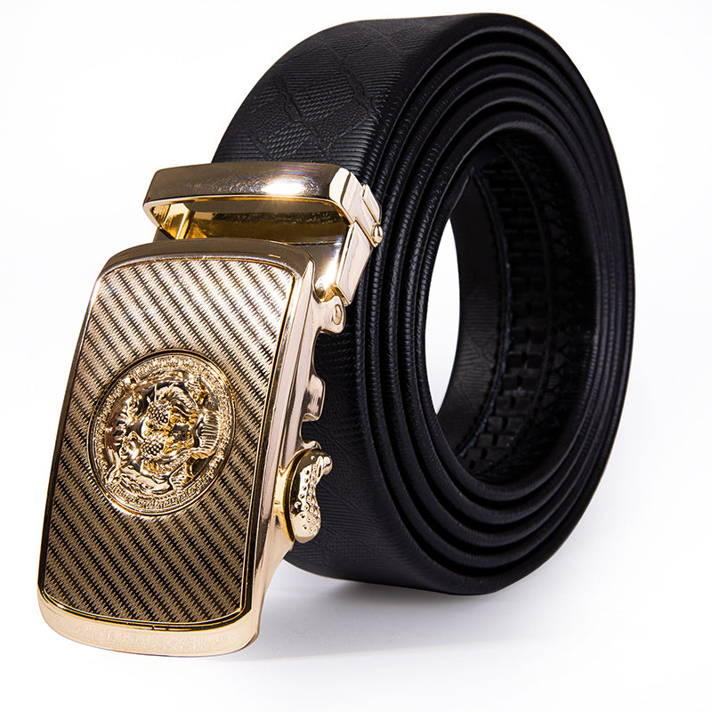 Men's Genuine Leather Belt With Automatic Buckle