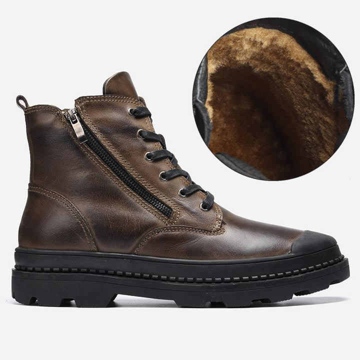 Men's Genuine Leather Warm Boots
