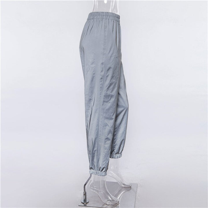 Women's Summer Casual Reflective Loose High-Waist Joggers