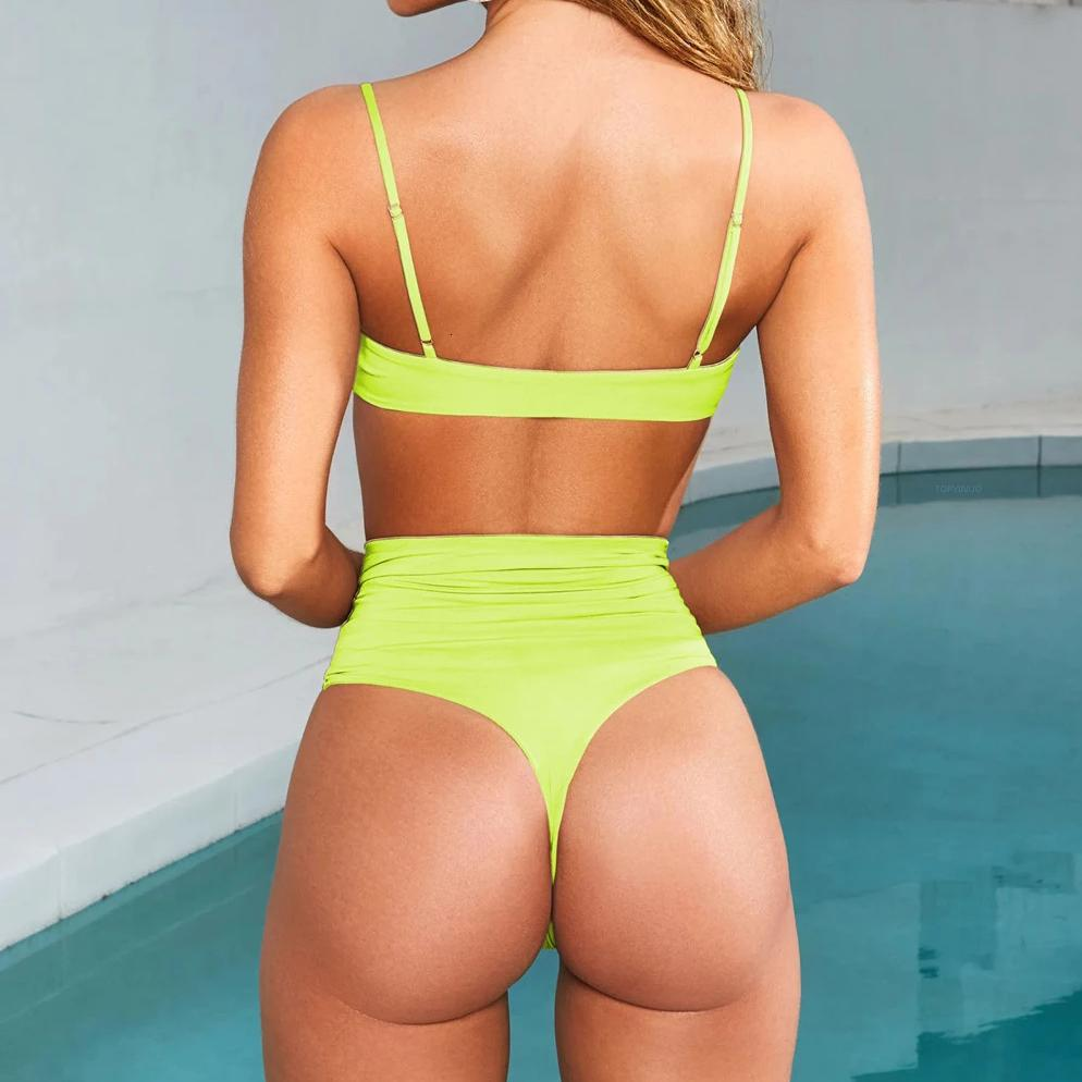 Women's Summer Lace-Up Skinny Two-Piece Swimwear