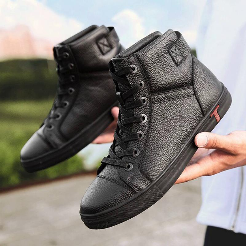Men's Autumn/Winter Casual Leather Ankle Boots | Plus Size