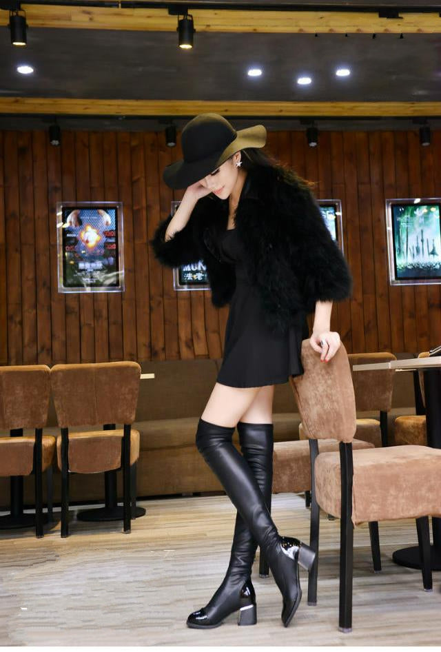 Women's Winter Warm Casual Over-Knee High Shoes