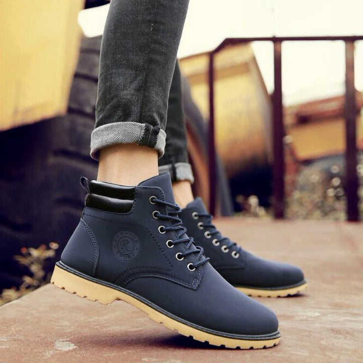 Men's Winter Casual Waterproof Ankle Boots