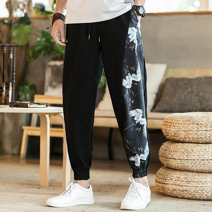 Men's Summer Casual Cotton Joggers With Print