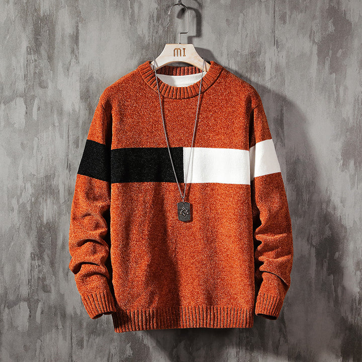 Men's Autumn/Winter Casual Polyester O-Neck Sweater