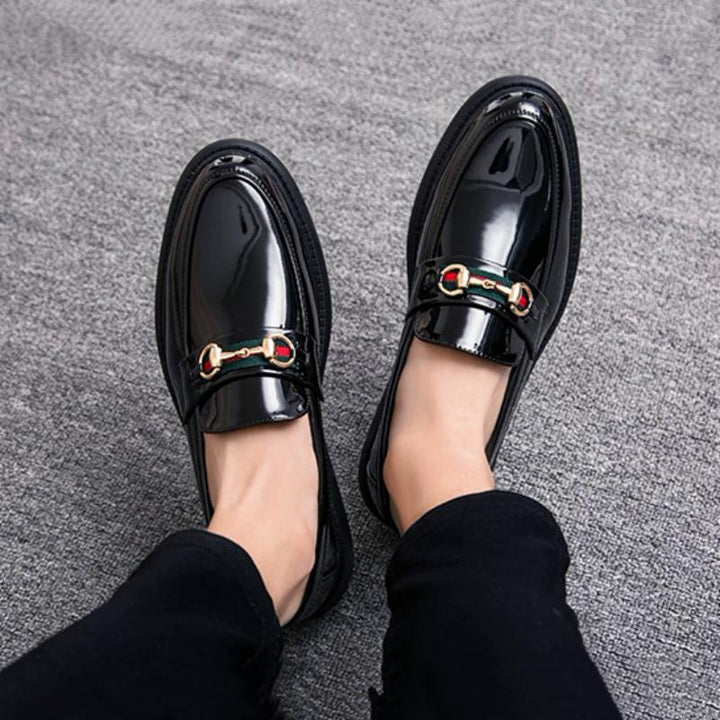 Men's Patent Leather Breathable Loafers