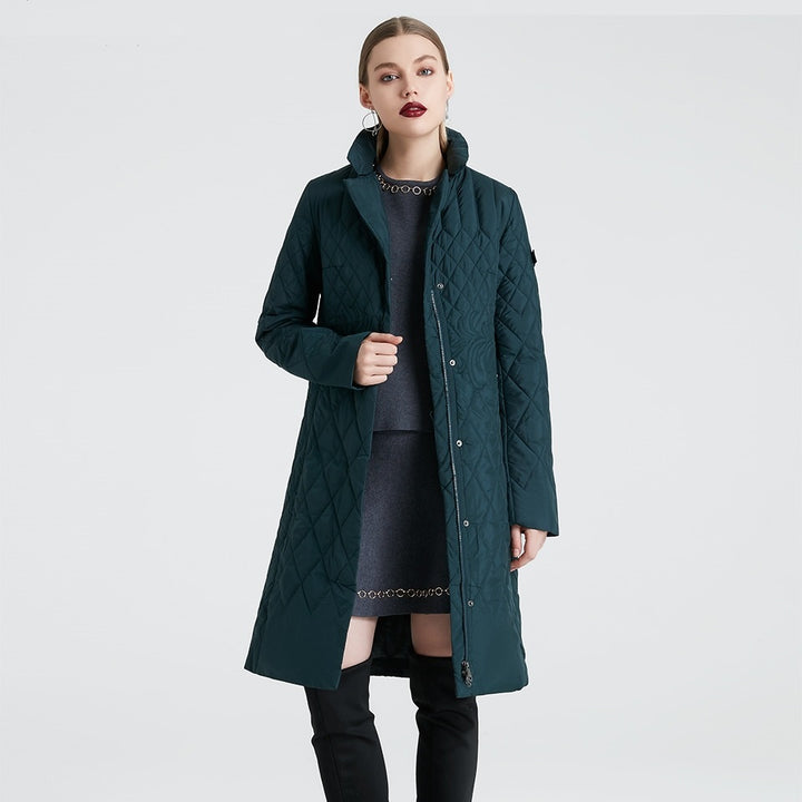 Women's Spring/Autumn Thin Polyester Coat With Zippers