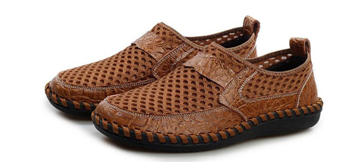 Men's Summer Casual Genuine Leather Breathable Shoes