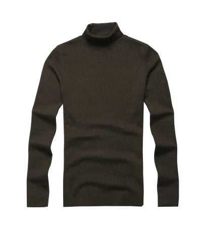 Men's Autumn/Winter Woolen Turtleneck European Style Sweater