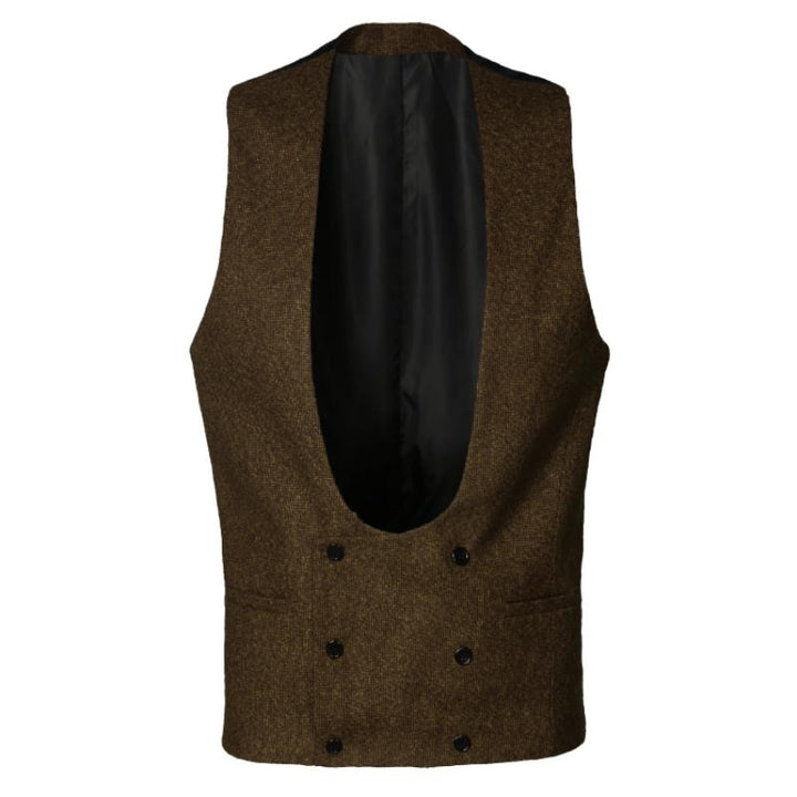 Men's Winter Casual Double Breasted Vest