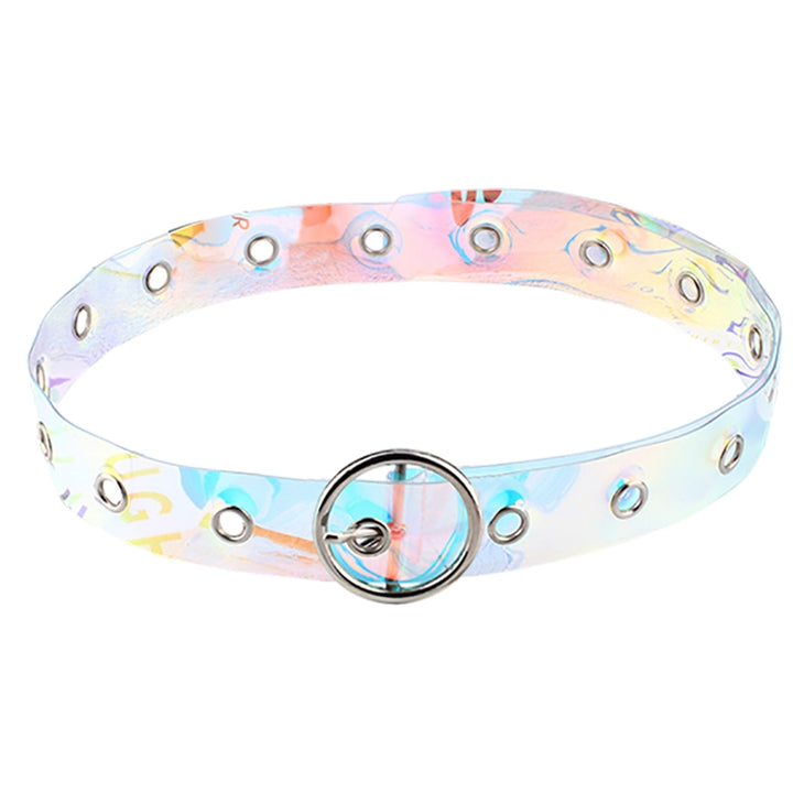 Women's Casual Transparent Belt With Pin Buckle