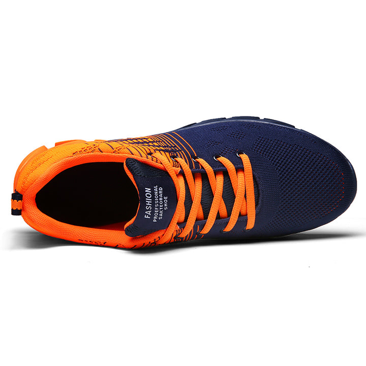 Men's Breathable Lace-Up Sneakers