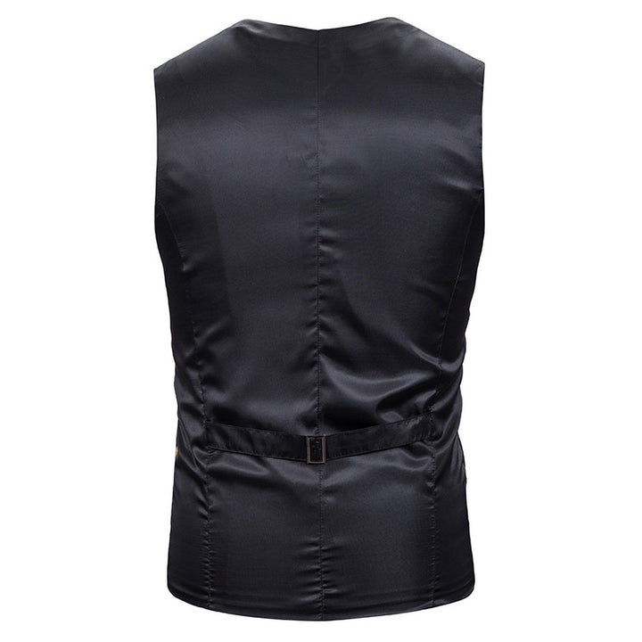 Men's Slim Single Breasted Vest With Print
