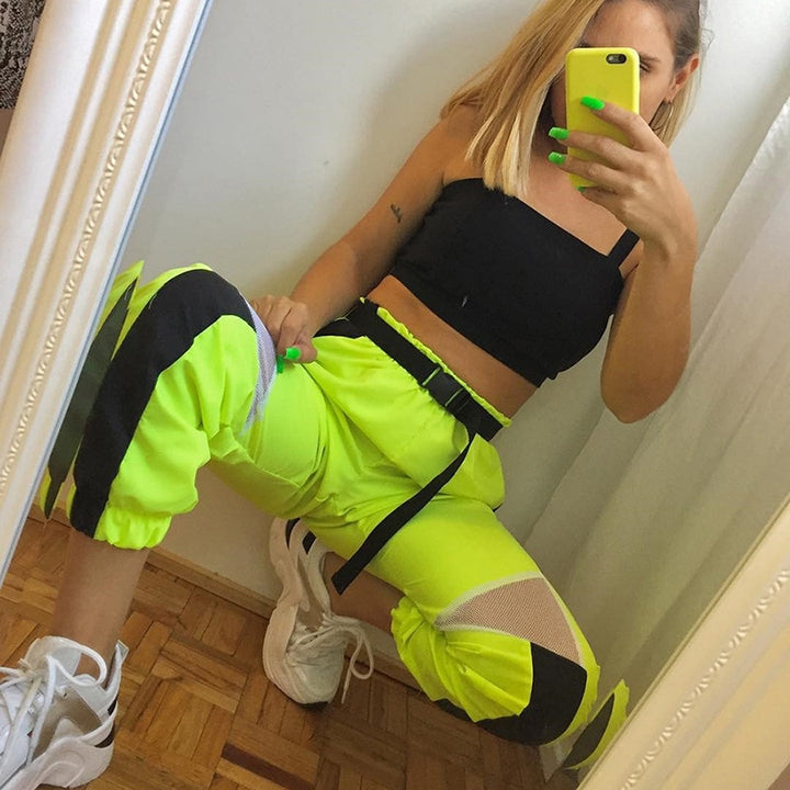 Women's Summer Casual High-Waist Patchwork Joggers