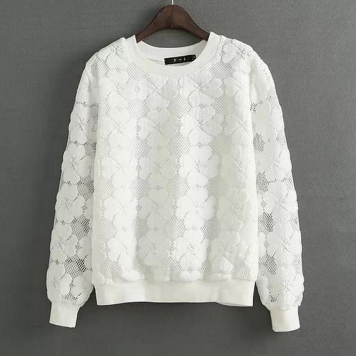 Women's Lacy O-Neck Sweatshirt