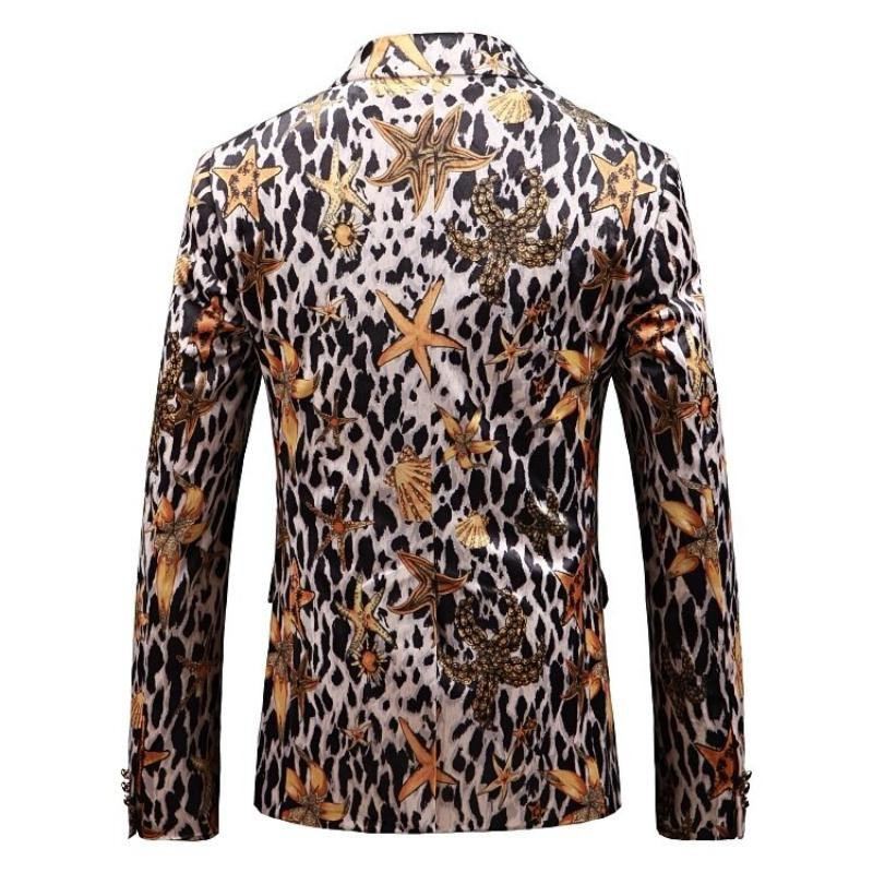 Men's Casual Slim Fit Blazer With Print | Plus Size