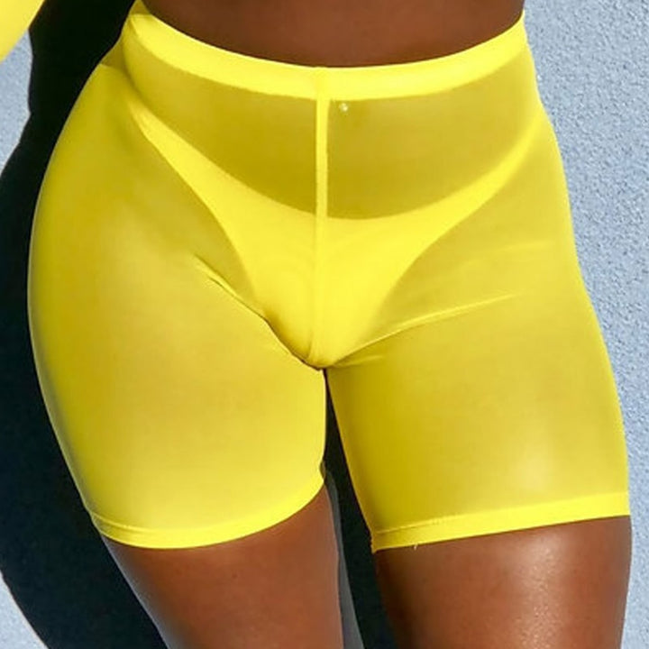 Women's Summer Transparent High-Waist Sport Shorts