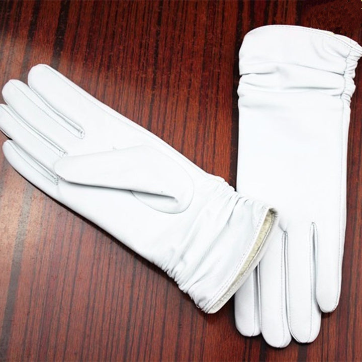 Women's Leather Gloves With Cashmere Lining
