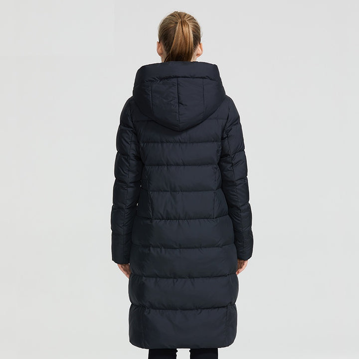 Women's Winter Warm Slim Parka With Zippers