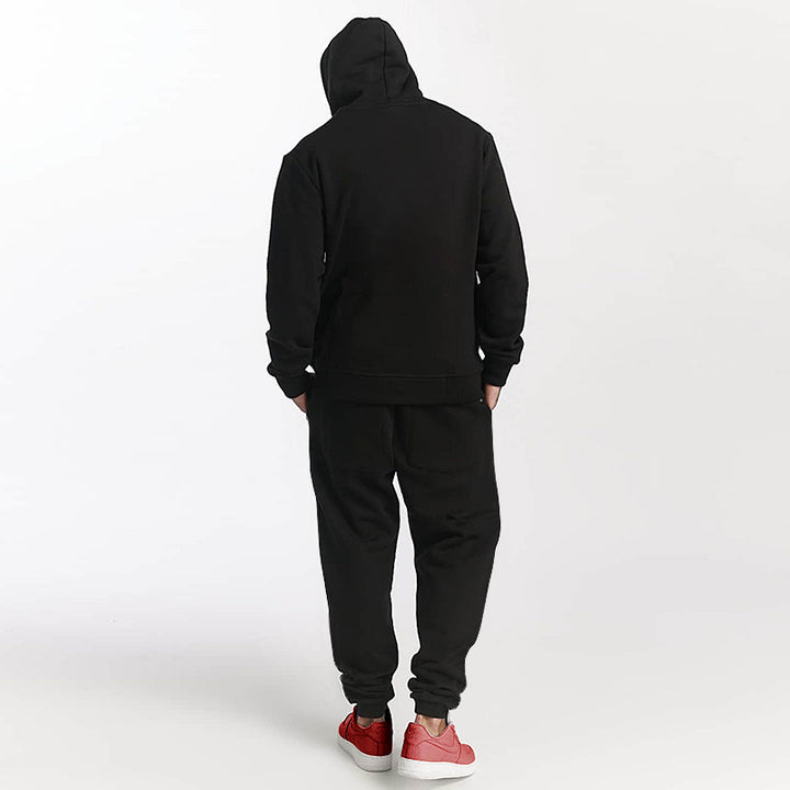 Men's Printed Hooded Sweatshirt With Velvet Lining