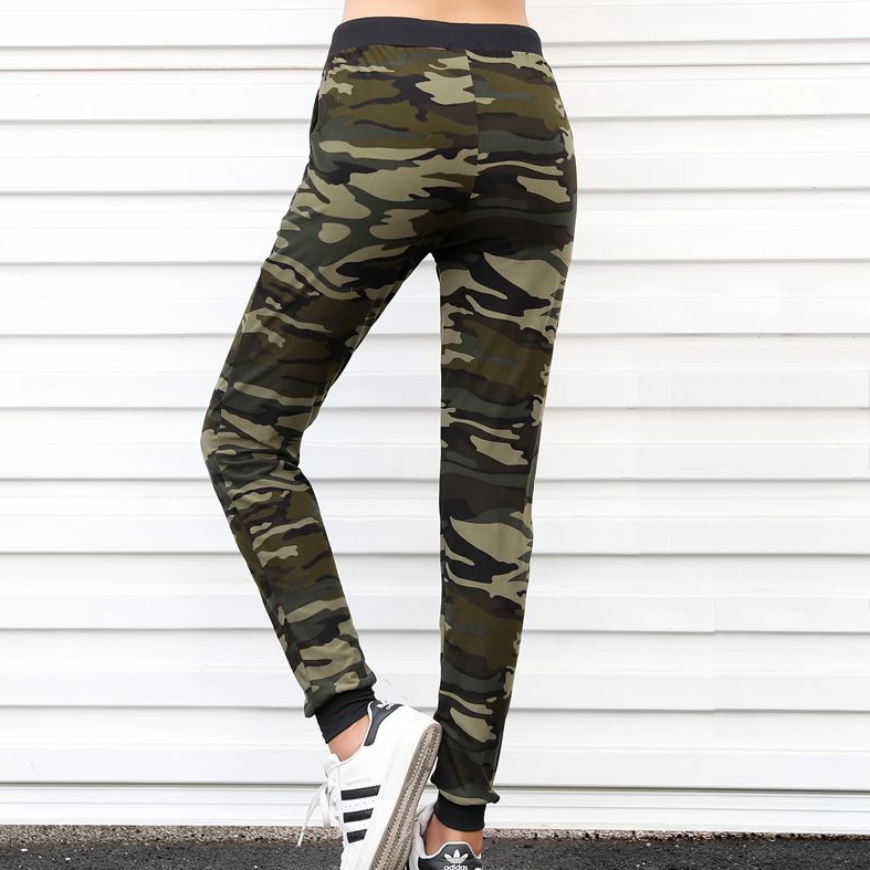 Women's Casual Camouflage High-Waist Joggers With Pockets