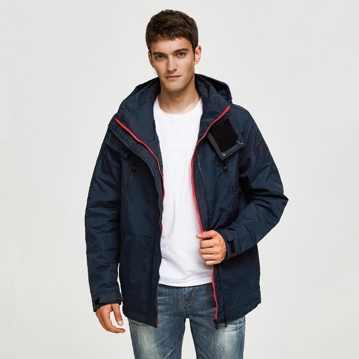 Men's Spring Casual Waterproof Hooded Windbreaker