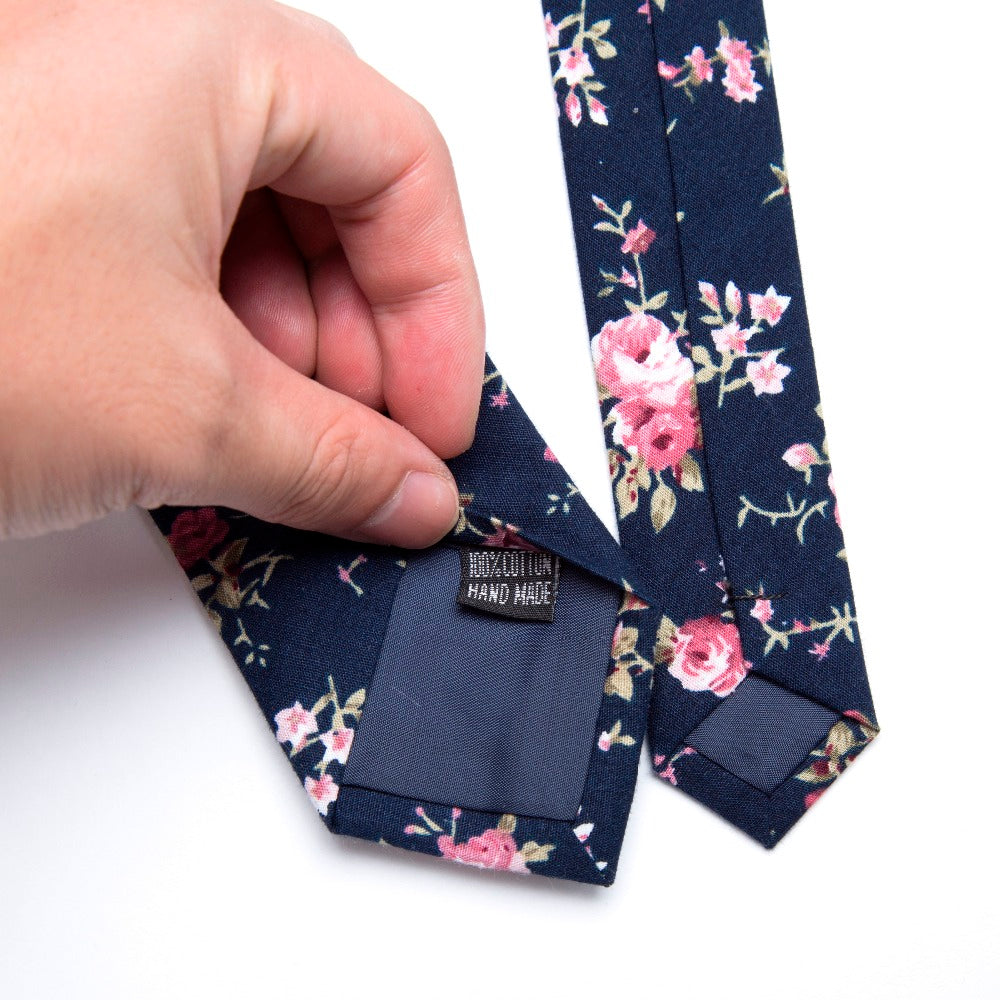 Men's Cotton Thin Tie With Print