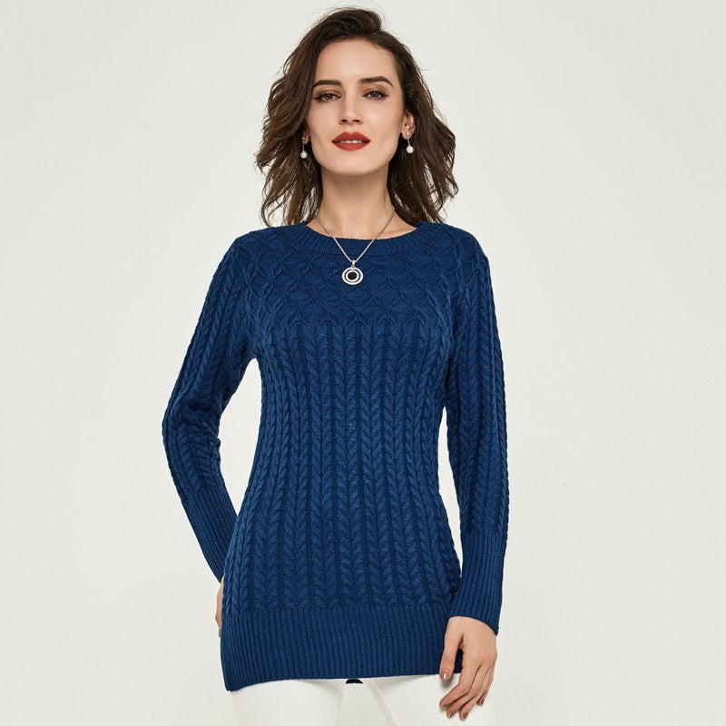 Sweater – Elegant Slim Sweater With O-Neck | Zorket
