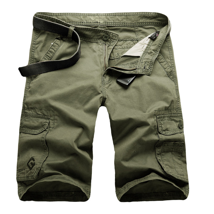 Men's Casual Solid Colored Cargo Shorts