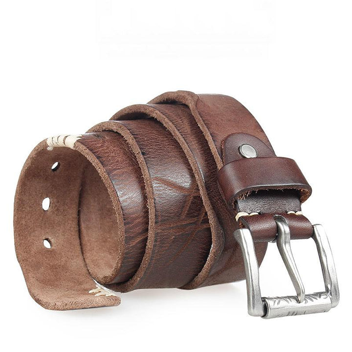 Men's Genuine Leather With Pin Buckle