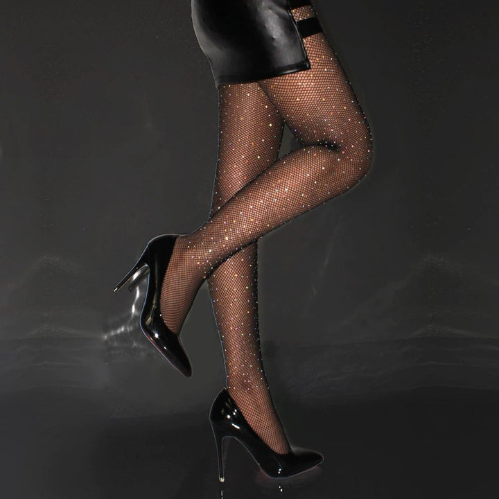 Women's Nylon Mesh Tights With Sequin