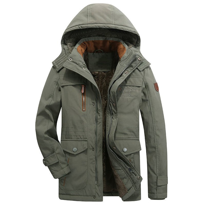 Men's Winter Casual Warm Padded Parka With Pockets