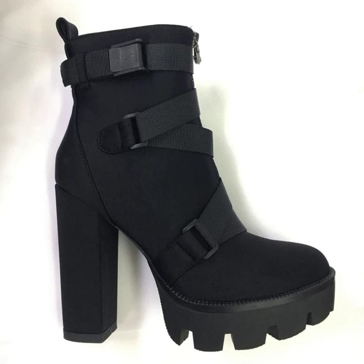 Women's Spring/Autumn Ankle Boots | Plus Size