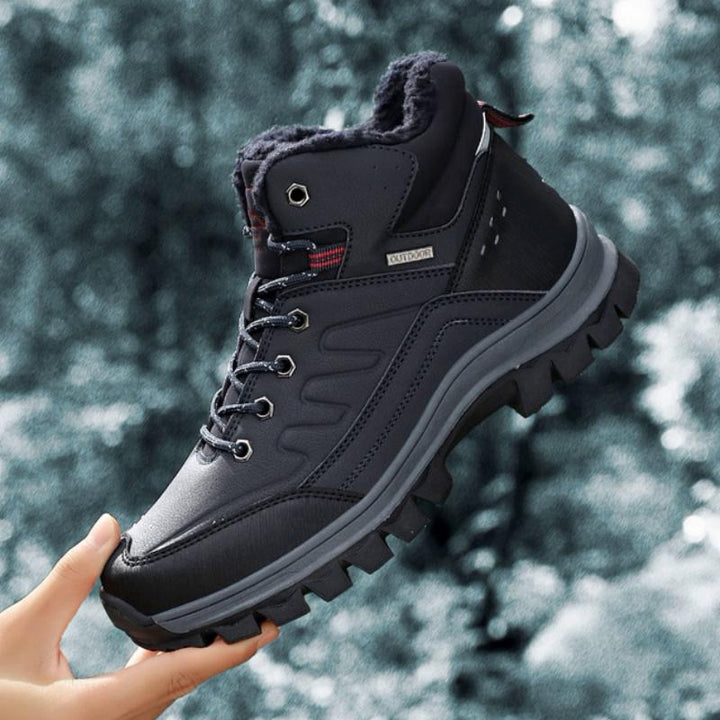 Men's Winter Waterproof Ankle Boots With Plush