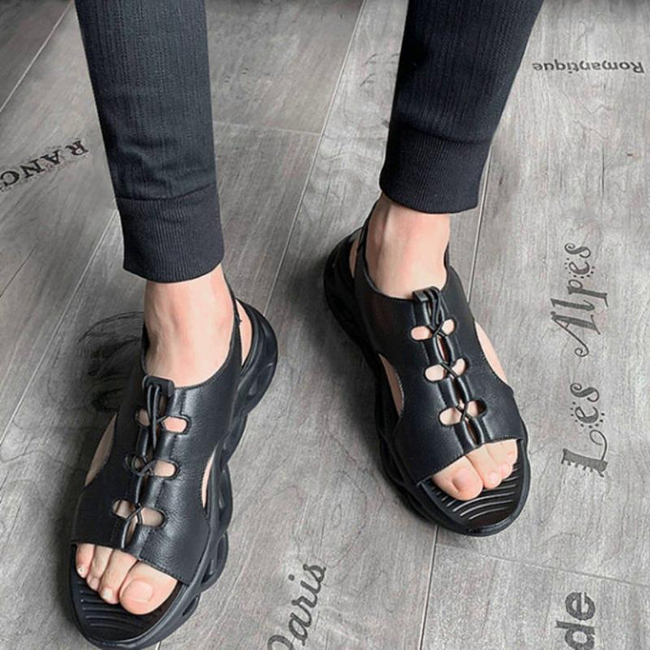 Men's Summer Genuine Leather Platform Sandals