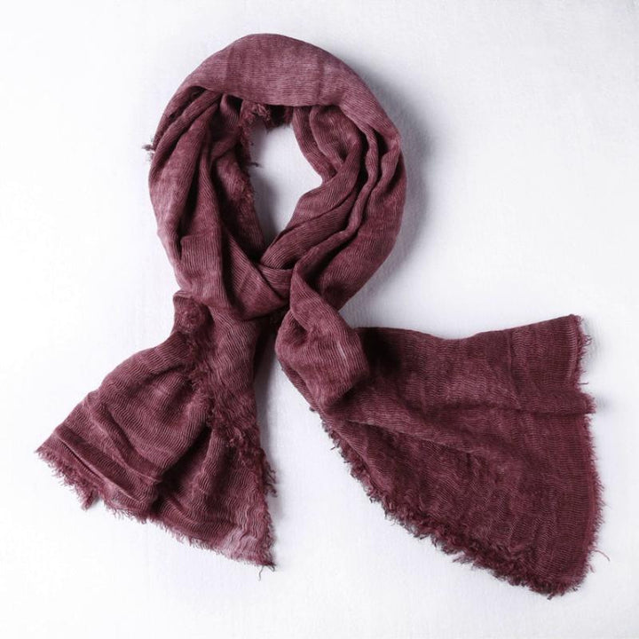 Men's Winter Cotton Thin Scarf