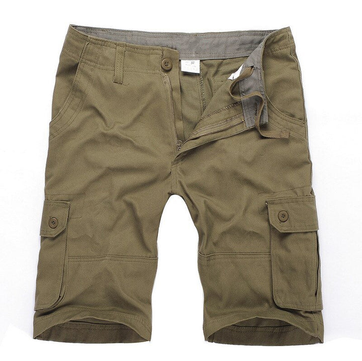 Men's Summer Casual Loose Cotton Mid-Waist Shorts