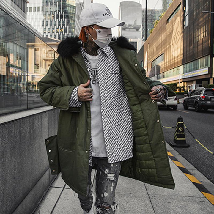 Men's Winter Windproof Long Parka