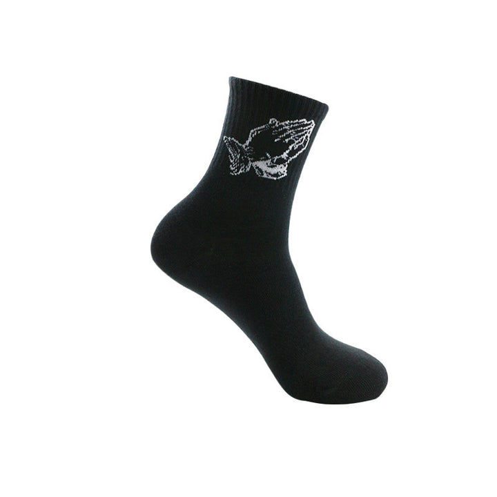 Men's/Women's Winter Casual Cotton Socks With Print
