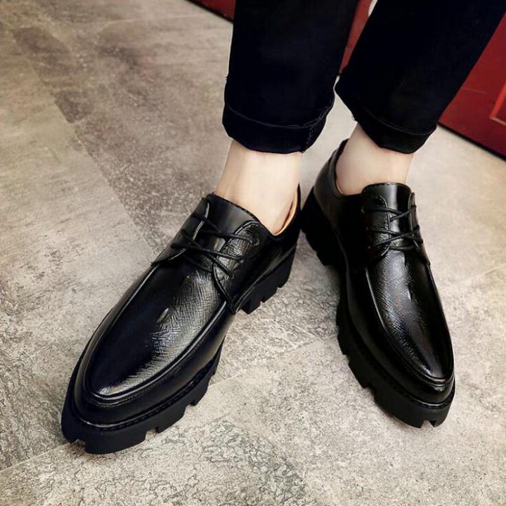 Men's Leather Dress Shoes With Pointed Toe