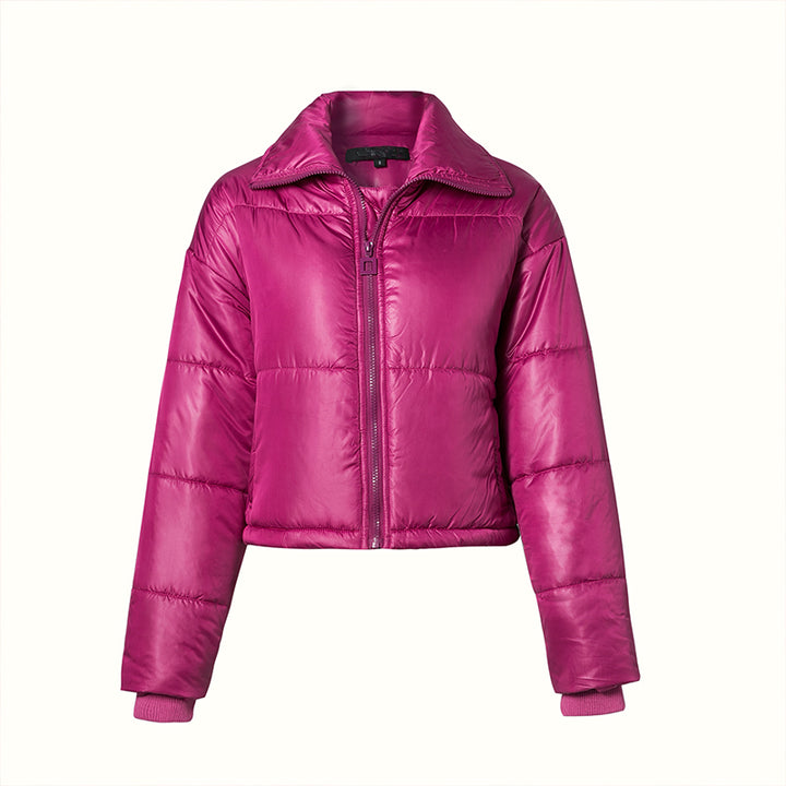 Women's Winter Casual Polyester Coat With Zippers