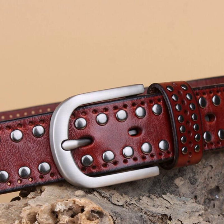 Women's Casual Genuine Leather Belt With Pin Buckle