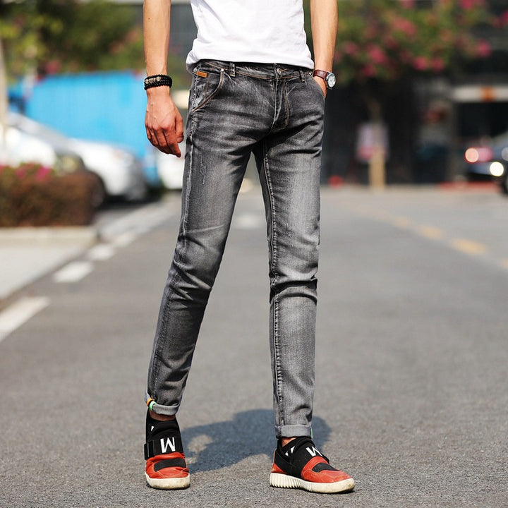 Men's Spring/Autumn Casual Stretchy Skinny Jeans With Pockets
