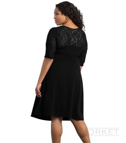 Dress – Evening V-Neck Midi Dress | Plus Size | Zorket