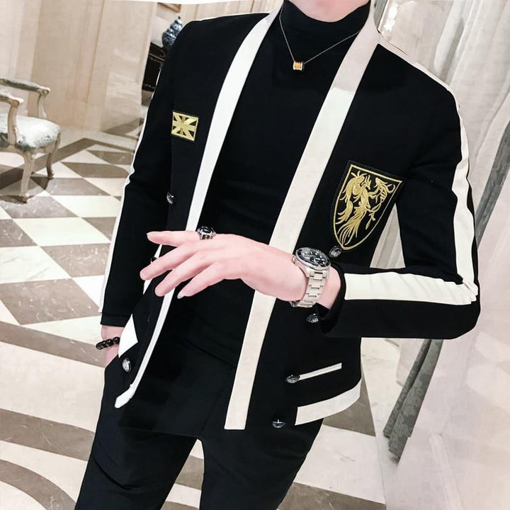 Men's Autumn Blazer With Embroidery