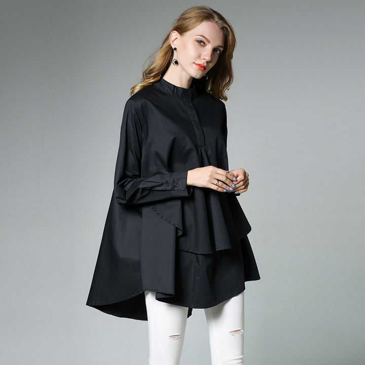 Women's Cotton Long-Sleeve Loose Shirt