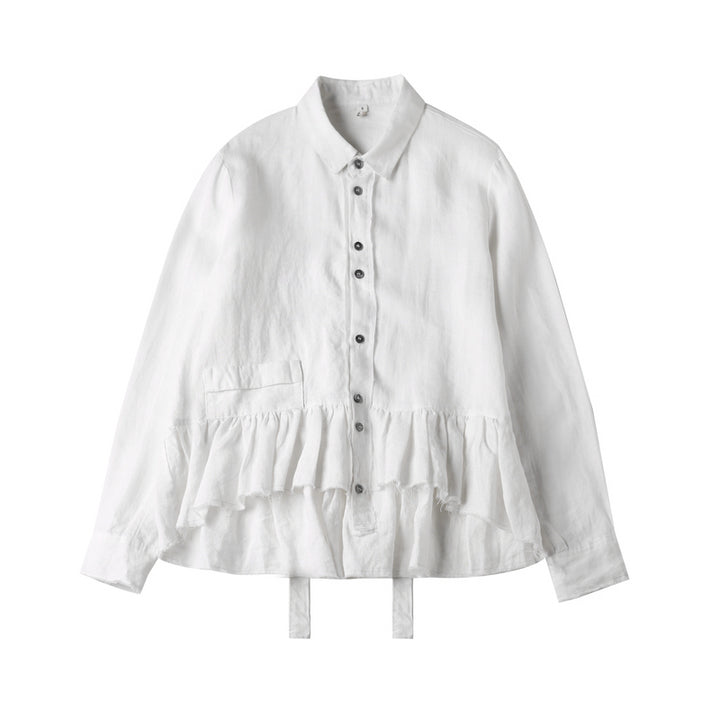 Women's Casual Linen Long-Sleeve Loose Shirt