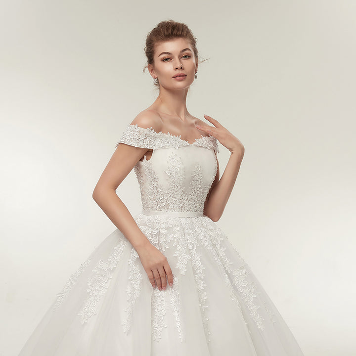 Women's Sequined Sleeveless Long Wedding Dress With Lace-Up